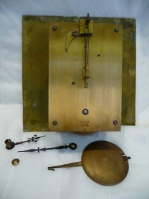 Antique W&H Time only Clock Movement 1890'S In Good Working Order
