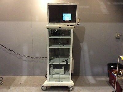 """Stryker Endoscopy Cart w/Stryker WiSe 26"""" HDTV Surgical Display Monitor, Medical"""