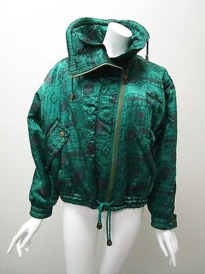 Vintage CERRUTI 1881 SPORT Made in Italy Green Winter Fashion Parka Size 44