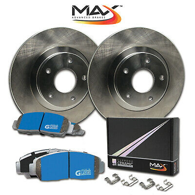 04 05 Fit Subaru Forester w/Rear Disc OE Replacement Rotors M1 Ceramic Pads R