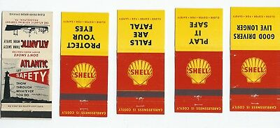 A mixed lot of five (5) Gas & Oil matchbook Covers  Lt 2