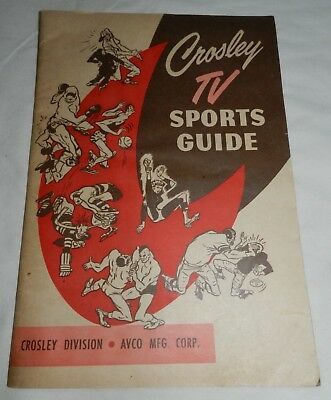 Vintage Crosley TV Sports Guide - Television Advertising booklet