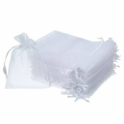 50 Pieces 4 by 6 Inch Organza Gift Bags Drawstring Jewelry Pouches Wedding Pa CQ