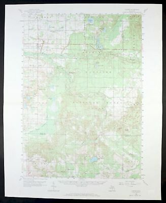 Custer Michigan Vintage USGS Topo Map 1959 Scottville Crystal Valley 15-minute
