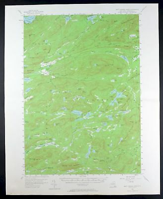1954 West Canada Lakes New York Speculator Vintage 15-minute USGS Topo Map