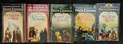 Lot of 5 David Eddings  Complete Malloreon Series  Books 1-5  (E2-3)