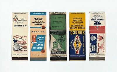 A mixed lot of five, (5) Gas & Oil Matchbook Covers  Lt 6