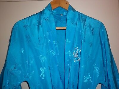 Vintage Japanese Brocade  Dressing Gown  Size M Excellent Condition