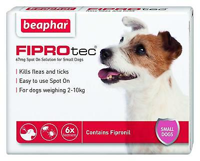 Beaphar FIPROTEC Flea Spot On Treatment For Small Dogs 3 Pipettes, 6 Pipettes