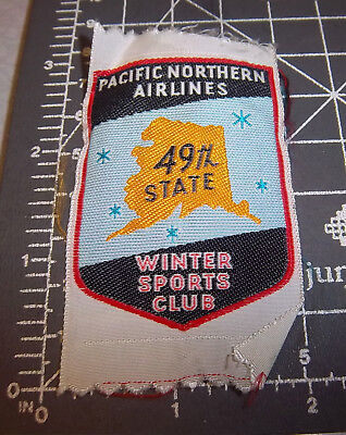 Alaska Embroidered Patch, Pacific Northern Airlines Winter sports Club, woven