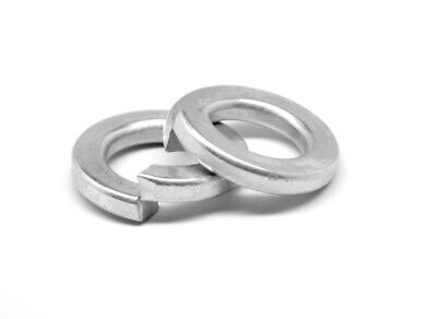 #4 Regular Split Lockwasher Medium Carbon Steel Zinc Plated