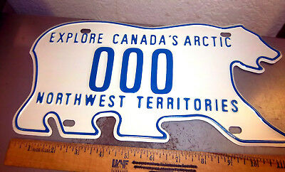Northwest Territory NWT Canada Polar Bear shaped License plate SAMPLE plate 000