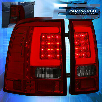 Red Smoke Tail Lights Lamps For 2002 2003 2004 2005 Ford Explorer White Led Tube