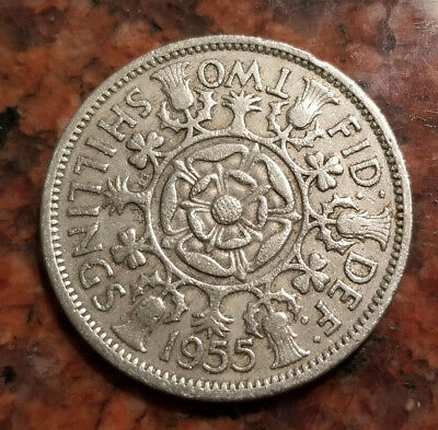 1955 Great Britain Two Shillings Coin - High Grade - #3542