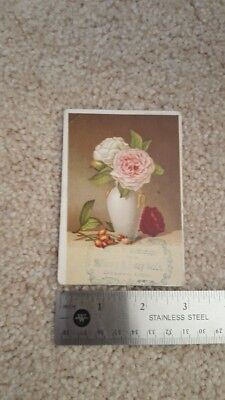 McMurty Millinery Geneva Ohio Antique Victorian Advertising Trade Card
