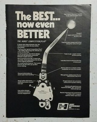 1970 Hurst Competition/Plus Shifter 4-speed shift vintage Ad