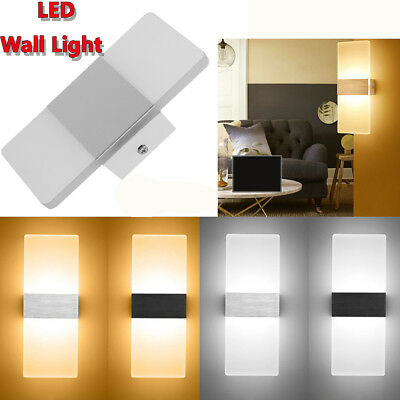 LED Wall Light Up Down Cube Indoor Outdoor Sconce Lighting Lamp Fixture Decor US