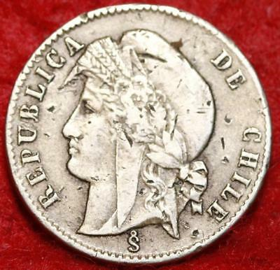 1871 Chile 1/2 Centavo Foreign Coin