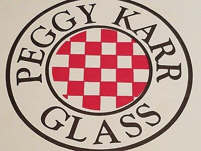 Peggy Karr Signed Glass 14 inch Rectangler Tray Box Tropical Floral Made in USA