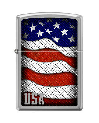 ee32dc7c089 Zippo Windproof Lighter With Waving American Flag   USA