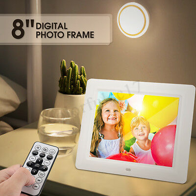 """8"""" Digital Photo Frame HD Video Music MP4 Movie Player Clock With Remote Control"""