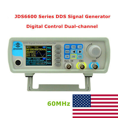 RD JDS6600 Series 60MHZ Digital Control Dual-channel DDS Signal Generator In USA