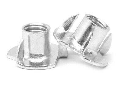"5/16""-18 x 3/8"" Coarse Thread Tee Nut 3 Prong Zinc Plated"