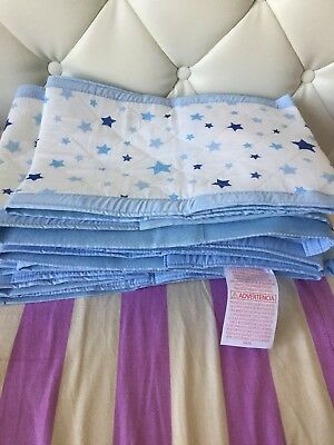 Like new - Airwrap 4-Sided Bed Bumpers Blue Stars * 2