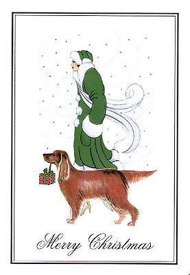 Irish Setter Christmas Cards Linda and fRED-#2 - Pack of 10