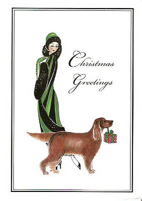 Irish Setter Christmas Cards Linda and fRED-1 - Pack of 10