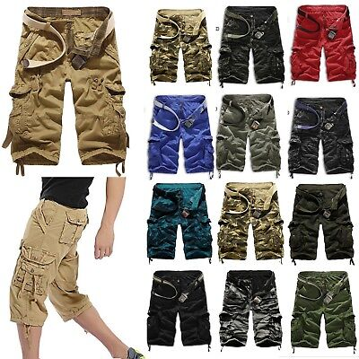 Mens Cargo Shorts Summer Short Pants Military Camping Combat Bottom Trousers New