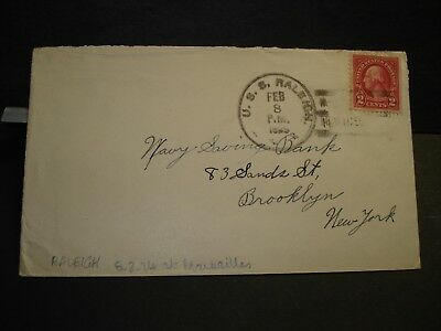 1929 USS RALEIGH CL-7 Naval Cover MARSEILLES, FRANCE