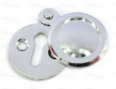 Escutcheon Closed Key Hole Cover With Screws Door Lock Polished Chrome Plated
