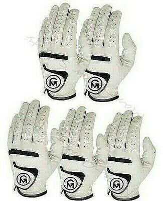 All Weather MENS / MALE Golf Gloves FULL CABRETTA LEATHER pack of 6 Left Hand
