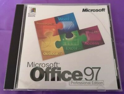 Microsoft Office 97 Professional Upgrade Word Excel Access Powerpoint With Key