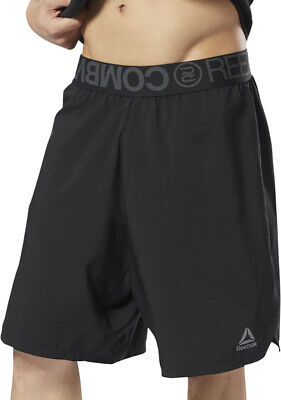 Reebok Combat Mens Boxing Shorts - Black