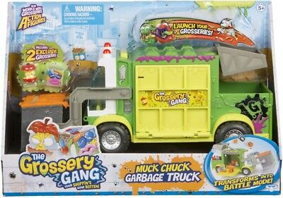 NEW The Grossery Gang Muck Chuck Garbage Truck Playset from Mr Toys