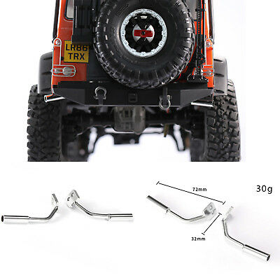 1 Piar Metal Exhaust Tip Pipe Tube for Traxxas TRX-4 Land Rover Ford Bronco RC