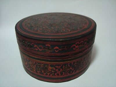 3 Vintage 'kashmiri' Indian Lacquered Nest Of Graduated Boxes.