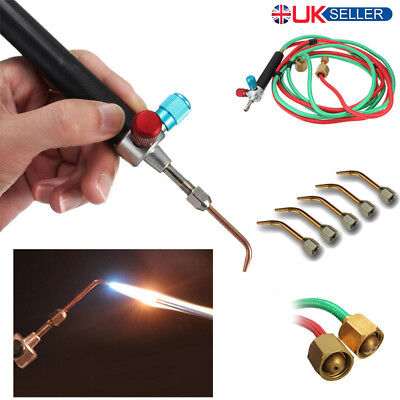 Hot Jewelry Jewelers Micro Mini Gas Little Torch Welding Soldering kit 5 tips UK