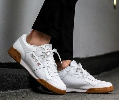 New Reebok Workout Plus Classic Leather Mens sneaker white gum all sizes 6253a3c30