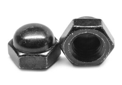 1/2-13 Coarse Acorn Nut 2 Piece Low Carbon Steel Black Oxide