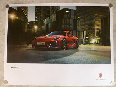 2014 Porsche Cayman GTS Showroom Advertising Sales Poster RARE!! Awesome L@@K