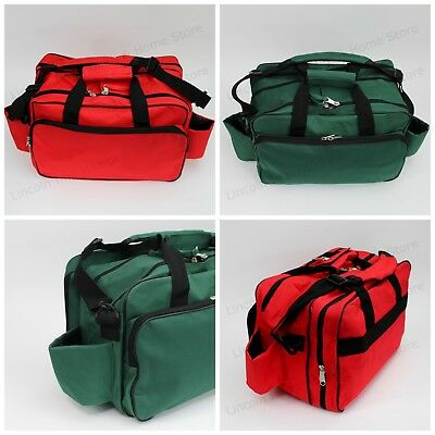 Large Red or Green Sports / Physio First Aid Bag EMPTY Double Zip & Compartments