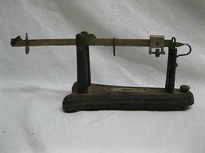 Small Fairbanks Grains Scale Cast Iron Base Brass Beam Old Vtg Antique Reloading