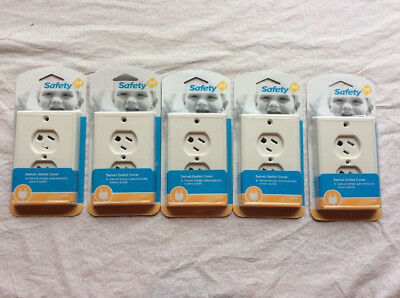 5 NEW Safety 1st Swivel Outlet Covers (White) Electrical Sockets Are Baby Proof