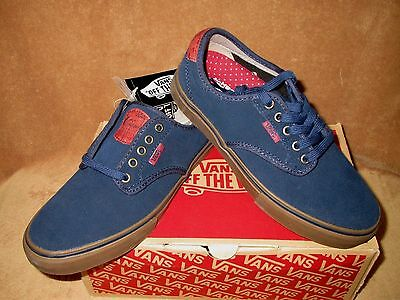 5e0cb2822a0c VANS ATWOOD ROWLEY Solos Navy Gum Suede Canvas Men s Size 6.5 New ...
