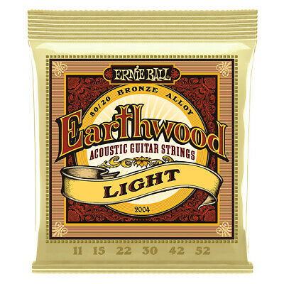 Ernie Ball 2004 Earthwood 80/20 Bronze Light Acoustic Guitar Strings (11-52)