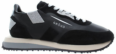 GHOUD Venice Scarpe Donna Sneakers Rush Woman Low Leather Suede Black  Silver ITA 42c30130672