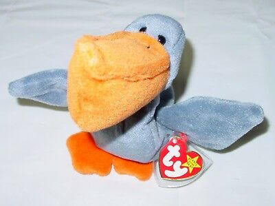 Authentic TY The Beanie Babies Collection 1996 Retired SCOOP the Seagull New